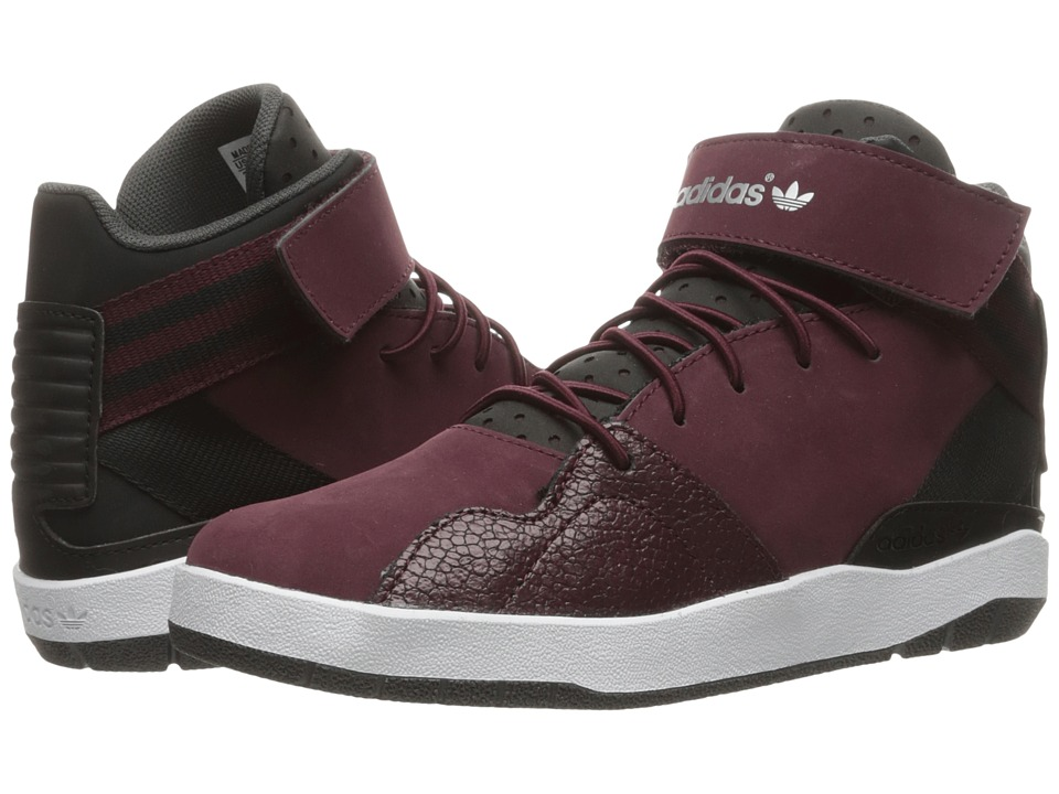 adidas Originals Kids - Crestwood Mid (Little Kid) (Black/Maroon/White) Kids Shoes
