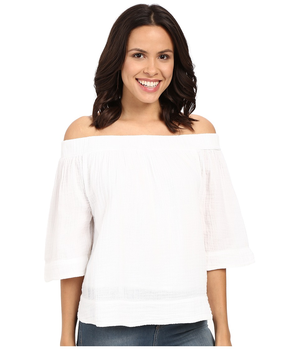 Three Dots Audrey Top (White) Women's Clothing