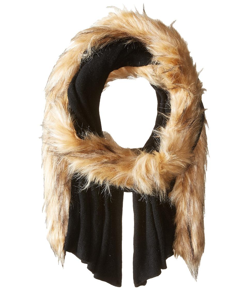LAUREN Ralph Lauren - Jersey Coyote Scarf (Black) Scarves