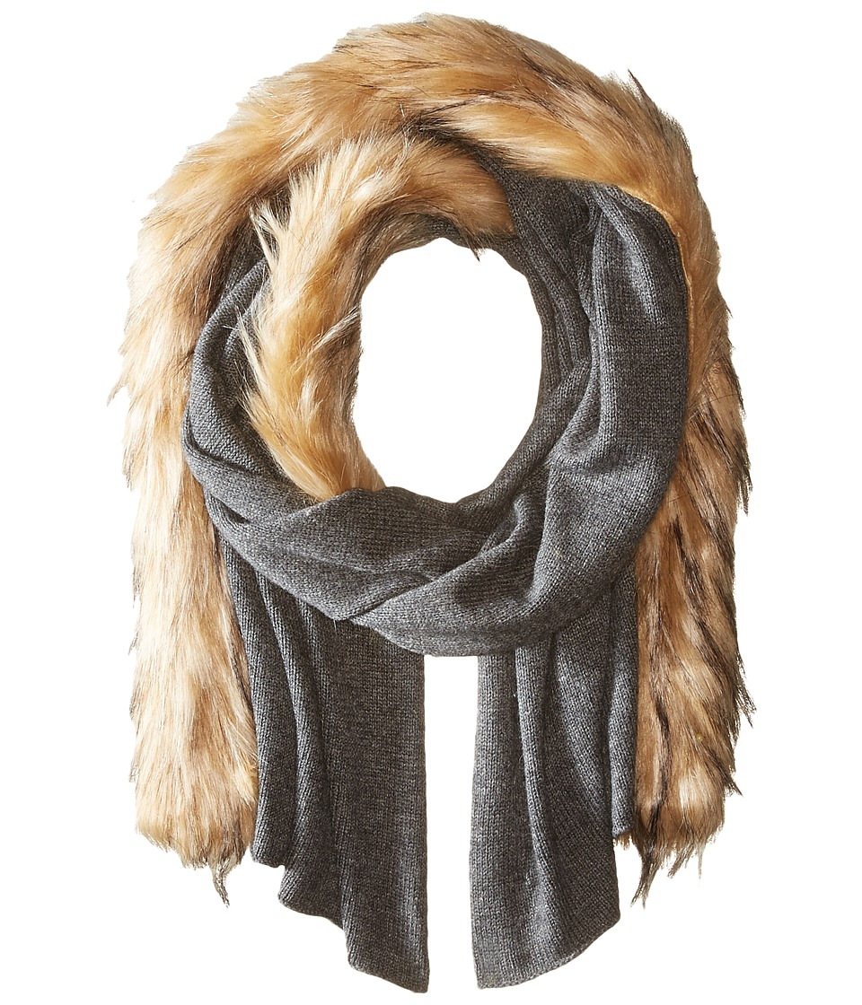 LAUREN Ralph Lauren - Jersey Coyote Scarf (Concrete Heather) Scarves
