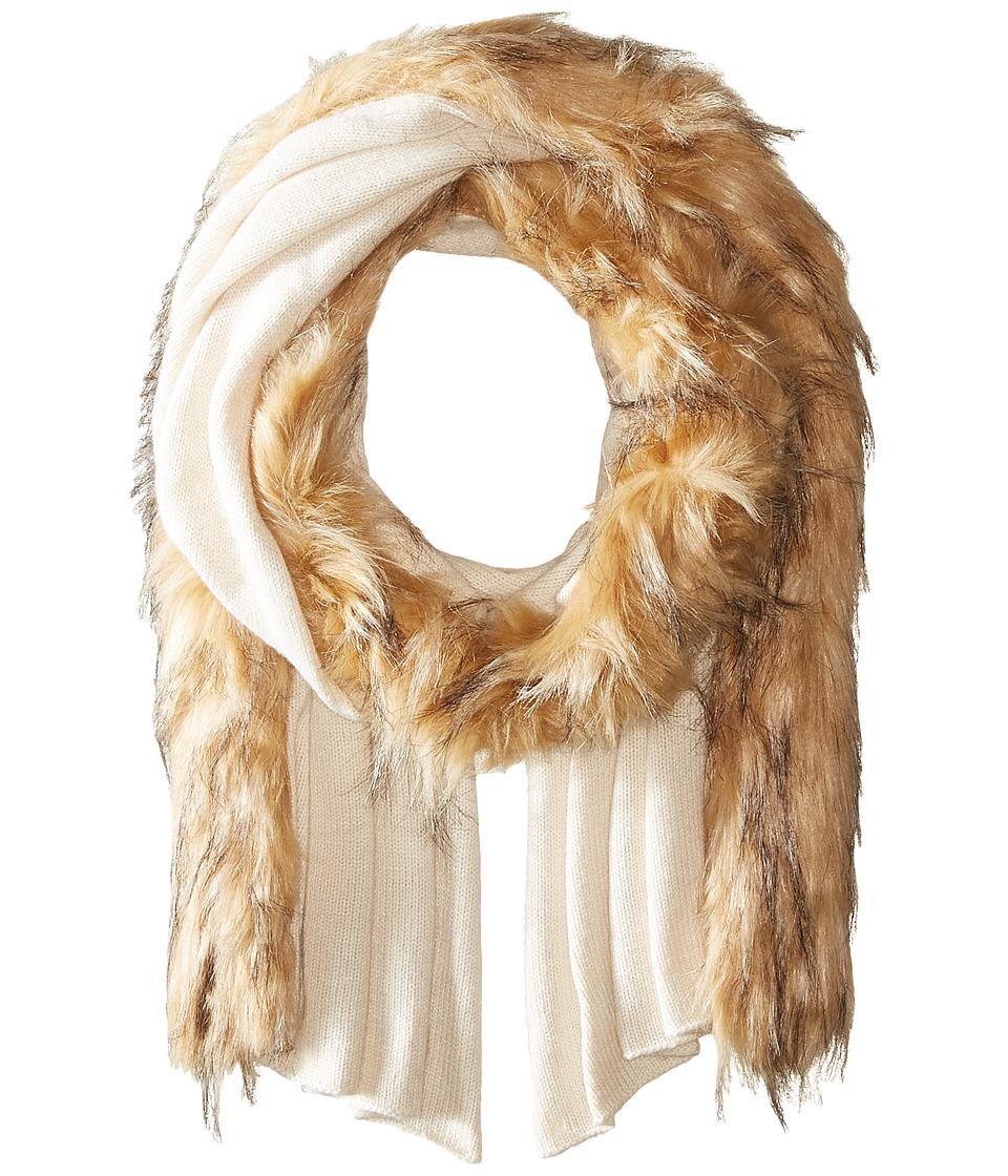 LAUREN Ralph Lauren - Jersey Coyote Scarf (Cream) Scarves
