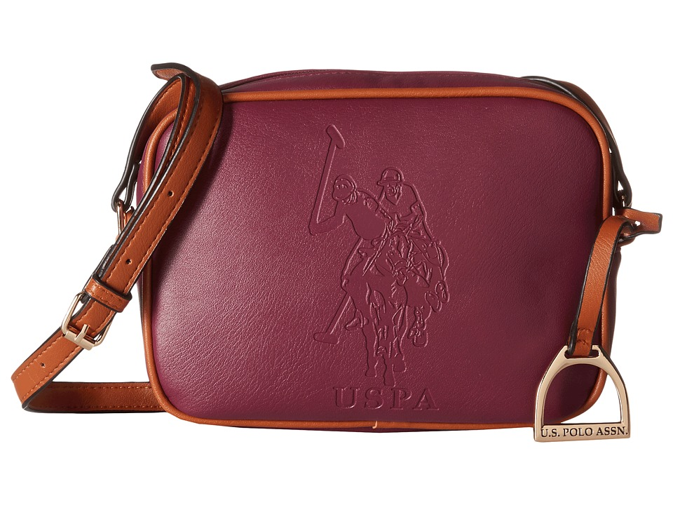 U.S. POLO ASSN. - Lia Embossed Camera Bag (Merlot) Handbags