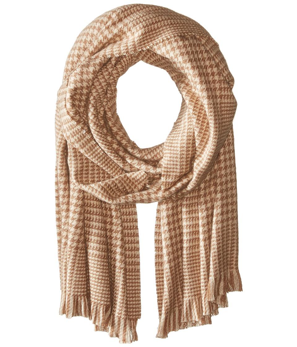 LAUREN Ralph Lauren - Glencheck Oversized Scarf (Camel Glencheck) Scarves