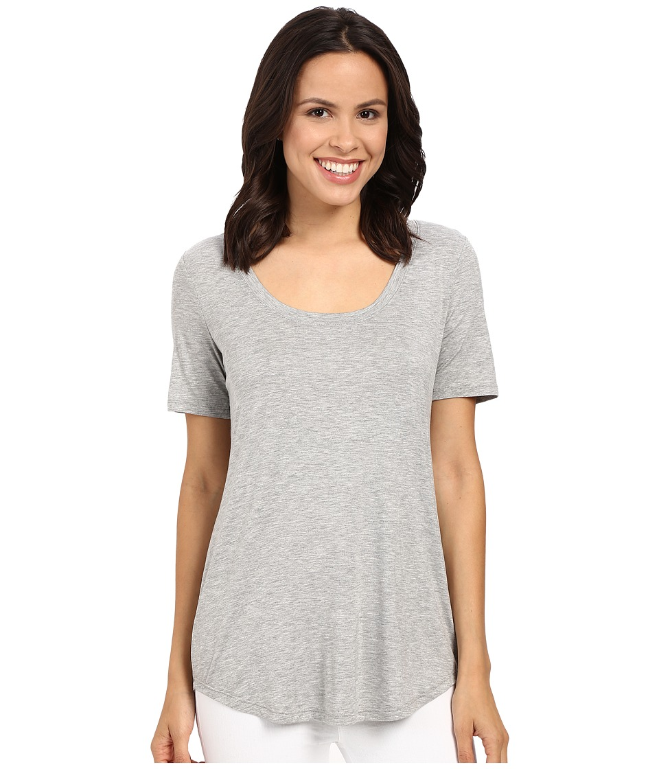 Three Dots - Evelyn Tee Tunic (Granite) Women's Short Sleeve Pullover