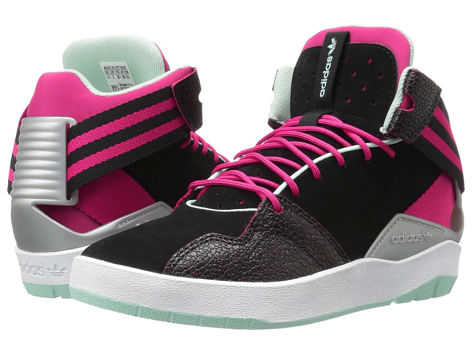 adidas Originals Kids Crestwood Mid (Big Kid) (Black/Bold Pink/Ice Green) Girls Shoes