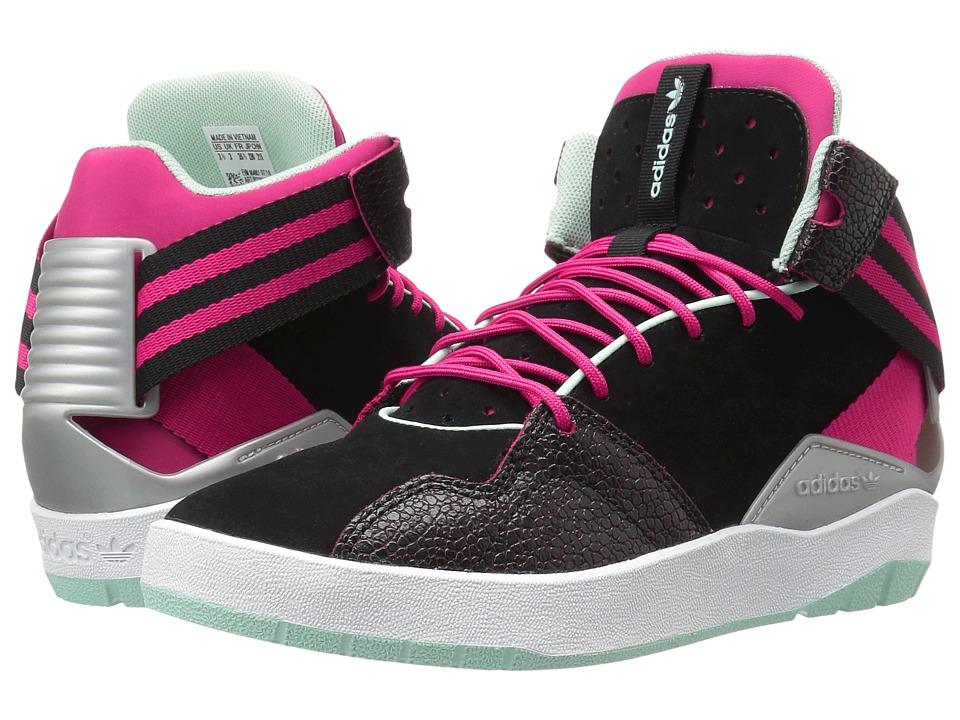 adidas Originals Kids - Crestwood Mid (Big Kid) (Black/Bold Pink/Ice Green) Girls Shoes