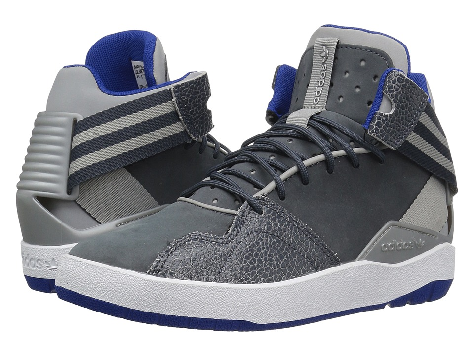 adidas Originals Kids Crestwood Mid (Big Kid) (MGH Solid Grey/Utility Blue/White) Boys Shoes