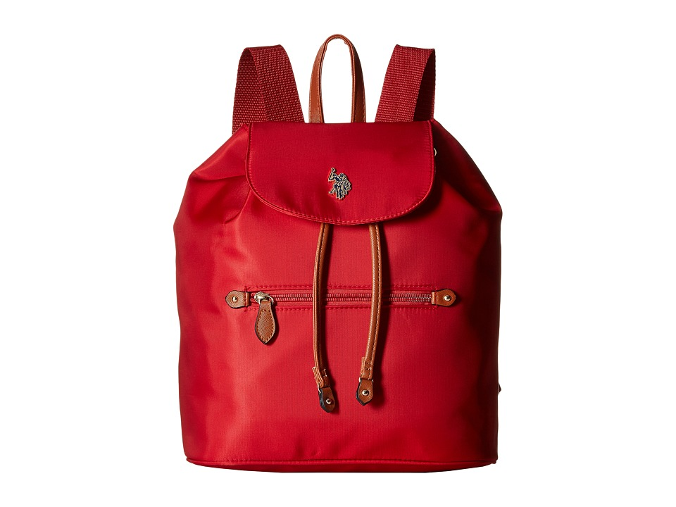 U.S. POLO ASSN. - Maiden Nylon Backpack (Red) Backpack Bags