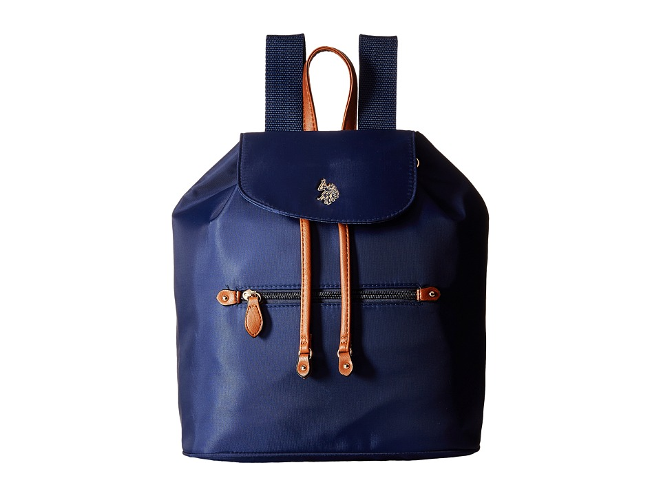 U.S. POLO ASSN. - Maiden Nylon Backpack (Navy) Backpack Bags