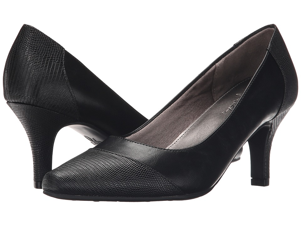 LifeStride - Keenly (Black/Black Lizard) Women's Shoes