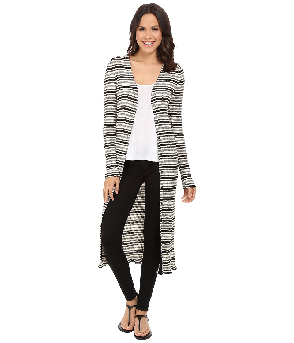 Three Dots - Nenita Long Cardigan (Black Combo) Women's Sweater