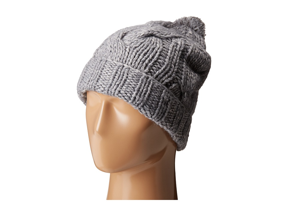 LAUREN Ralph Lauren - Chunky Cable Cuff Hat (Dark Grey Heather) Beanies