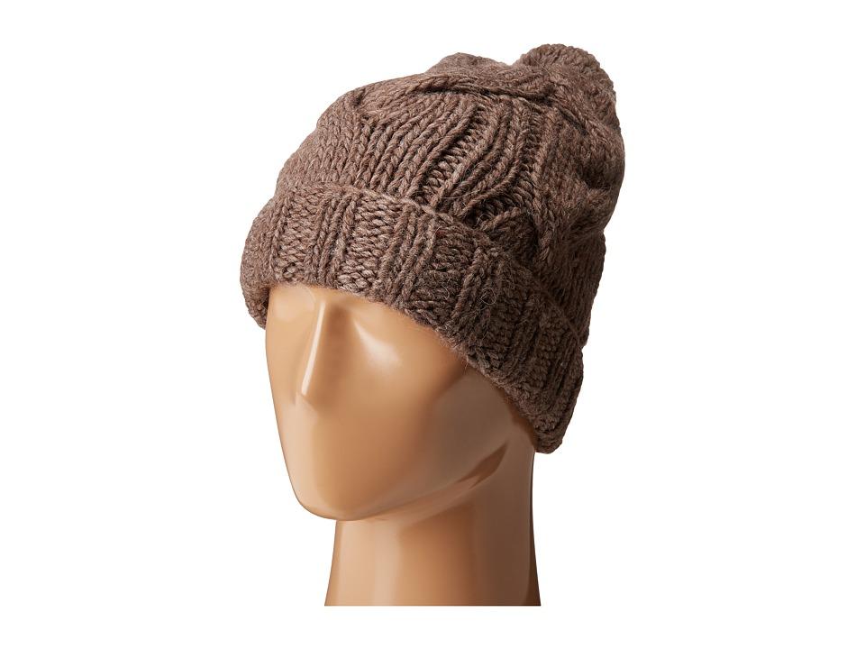 LAUREN Ralph Lauren - Chunky Cable Cuff Hat (Moleskin) Beanies