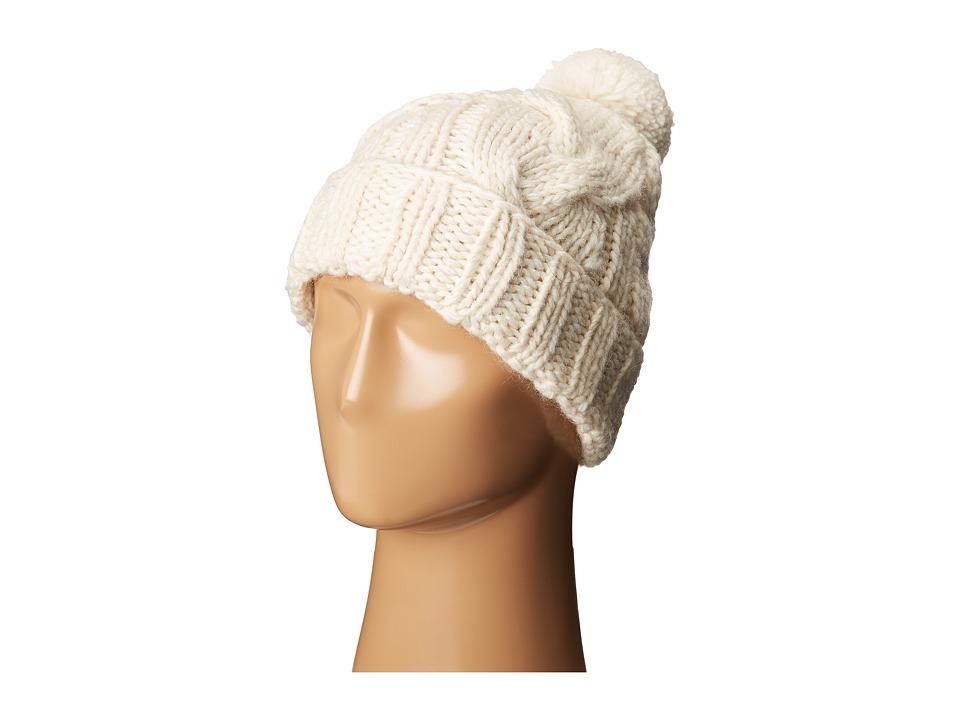 LAUREN Ralph Lauren - Chunky Cable Cuff Hat (Cream) Beanies