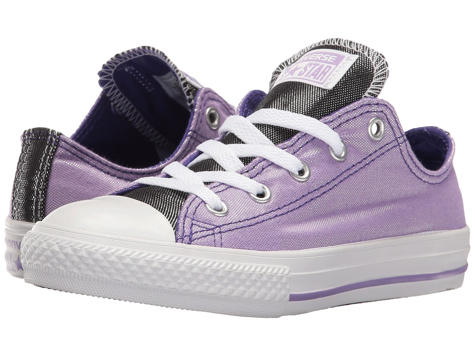 Converse Kids - Chuck Taylor All Star Ox (Little Kid/Big Kid) (Frozen Lilac/Candy Grape/White) Girls Shoes
