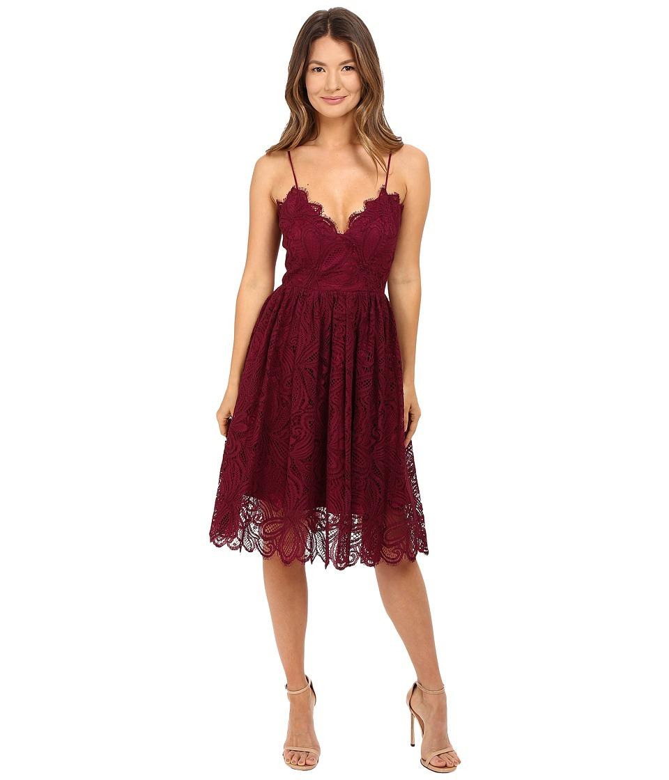 ZAC Zac Posen Viola Dress (Wine) Women