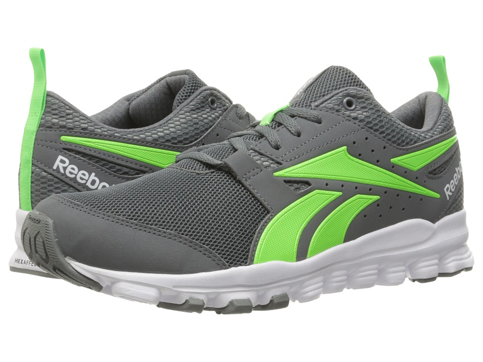 Reebok - Hexaffect Sport (Alloy/Solar Green/White) Men's Shoes