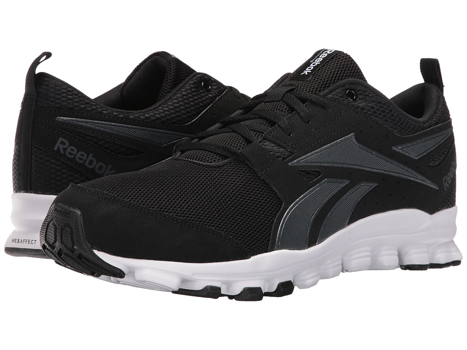 Reebok - Hexaffect Sport (Black/Smokey Black/White) Men's Shoes