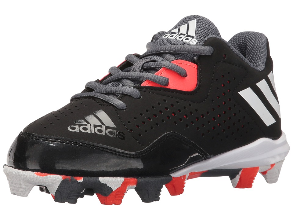 adidas Kids - Wheelhouse 4 Baseball (Toddler/Little Kid/Big Kid) (Black/White/Solar Red) Boys Shoes
