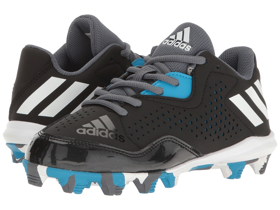adidas Kids - Wheelhouse 4 Baseball (Toddler/Little Kid/Big Kid) (Black/White/Solar Blue) Boys Shoes