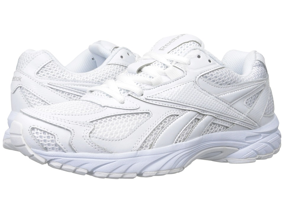 Reebok - Pheehan Run (Leather/White/White/Tin Grey) Men's Running Shoes