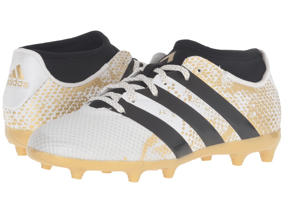 adidas Kids - Ace 16.3 Primemesh TF Soccer (White/Black/Gold Metallic) Kids Shoes
