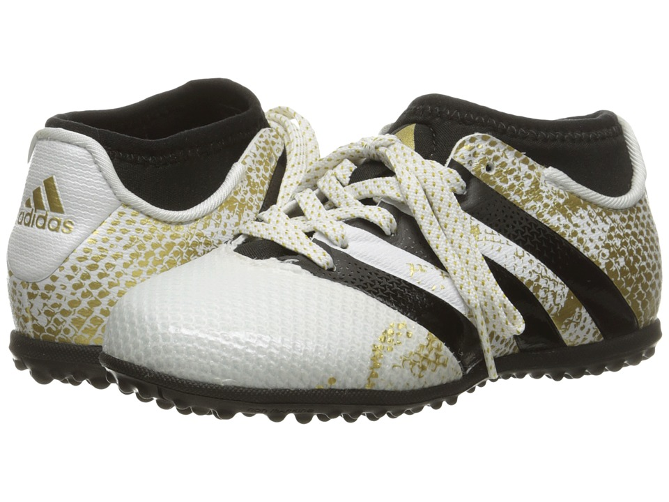 adidas Kids - Ace 16.3 Primemesh TF J Soccer (Little Kid/Big Kid) (White/Black/Gold Metallic) Kids Shoes