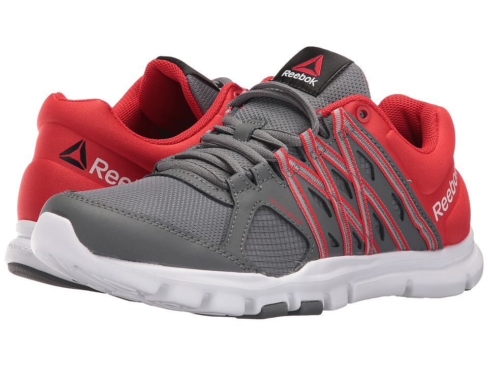 Reebok - Yourflex Train 8.0 L MT (Alloy/Riot Red/White) Men's Cross Training Shoes