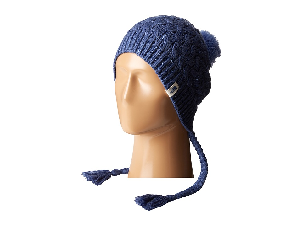 The North Face - Flecka Earflap Beanie (Coastal Fjord Blue/Grapemist Blue) Beanies