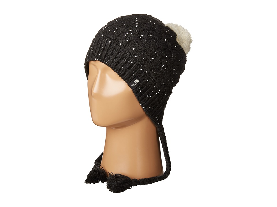 The North Face - Flecka Earflap Beanie (TNF Black/Vaporous Grey) Beanies