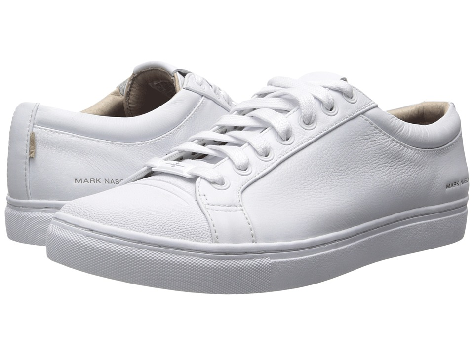 Mark Nason - Santee (White Leather/White Bottom) Men's Lace up casual Shoes