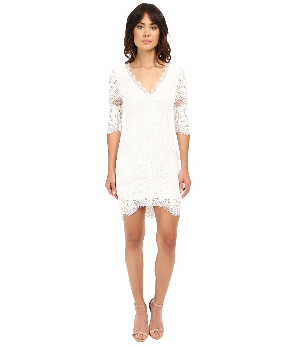 Brigitte Bailey - Kali Lace Sheath Dress (White) Women's Dress