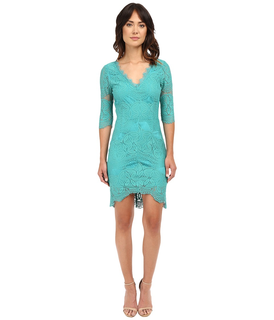 Brigitte Bailey - Kali Lace Sheath Dress (Jade) Women's Dress