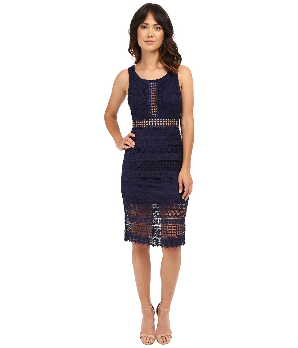 Brigitte Bailey - Ayla Lace Midi Dress (Navy) Women's Dress