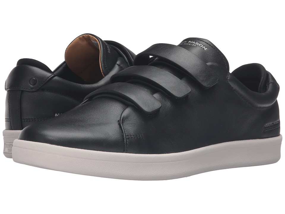 Mark Nason - Bunker (Black Leather/White Bottom) Men's Hook and Loop Shoes