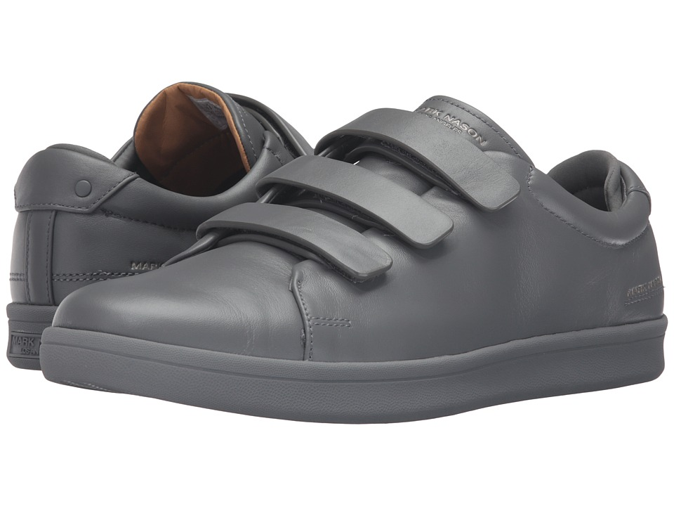 Mark Nason Bunker (Charcoal Leather/Charcoal Bottom) Men's Hook and Loop  Shoes