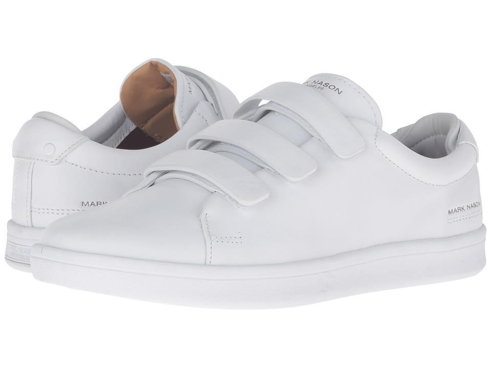 Mark Nason - Bunker (White Leather/White Bottom) Men's Hook and Loop Shoes