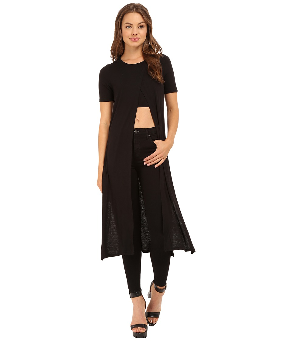 Culture Phit - Dulce Top with Front Slit (Black) Women's Clothing