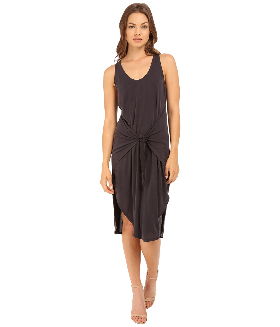 Culture Phit - Front Tie Midi Dress (Black) Women's Dress