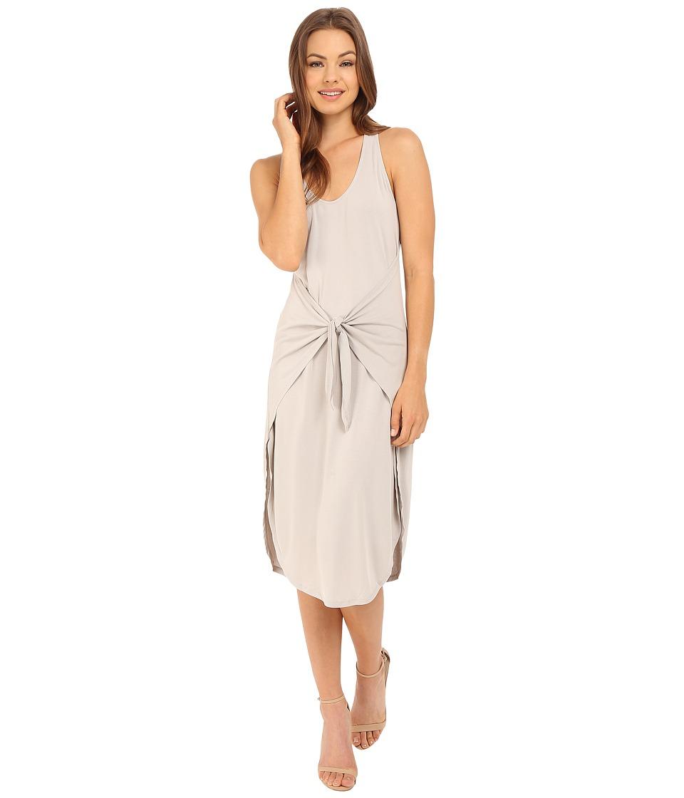 Culture Phit - Front Tie Midi Dress (Moonstruck) Women's Dress