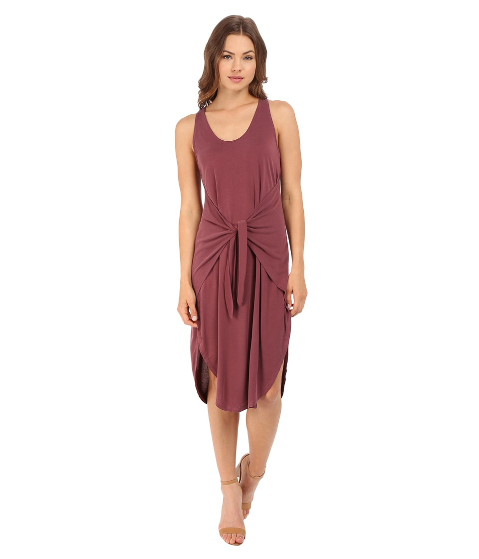 Culture Phit - Front Tie Midi Dress (Rust) Women's Dress