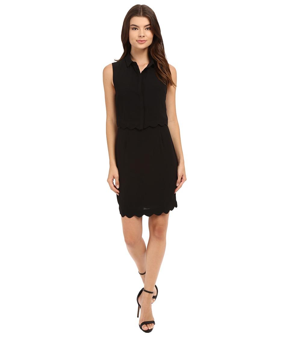 Brigitte Bailey - Tatum Collared Sleeveless Dress (Black) Women's Dress
