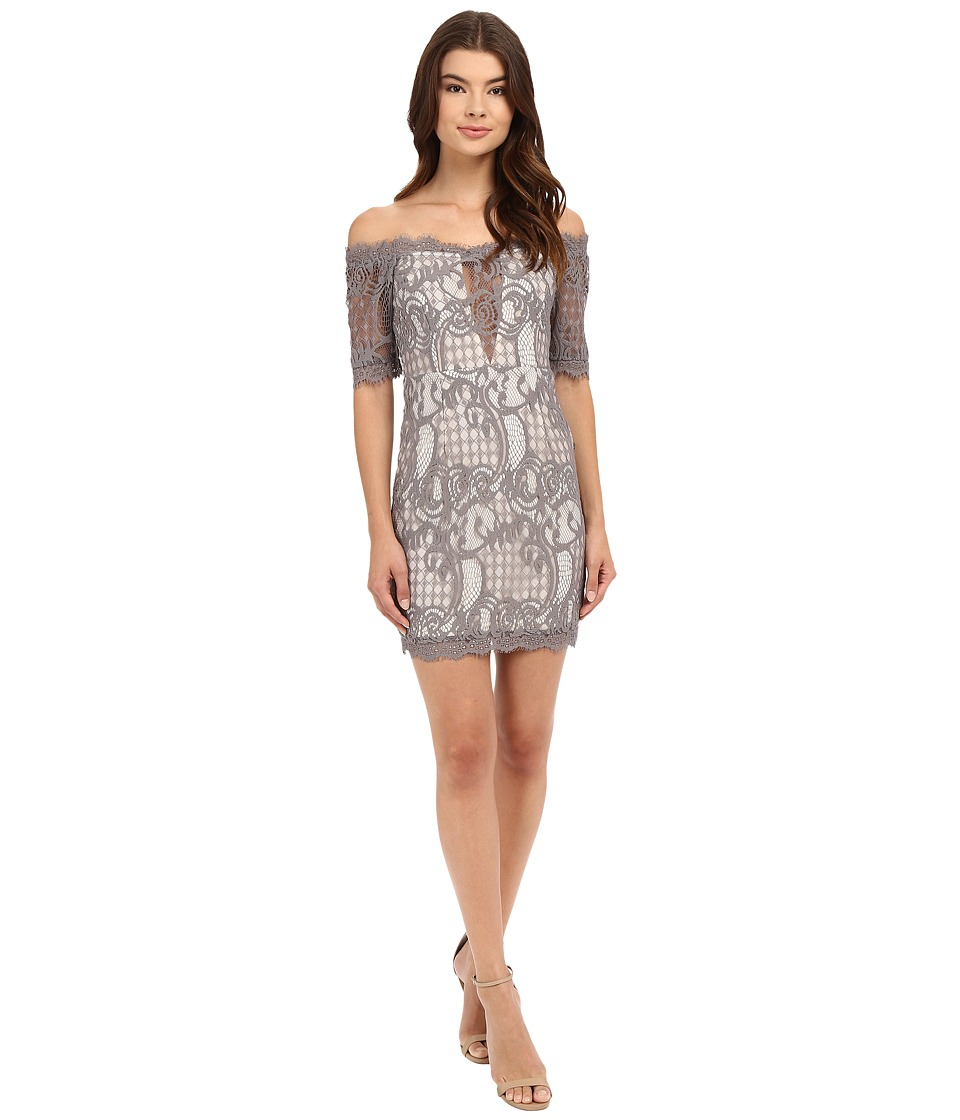 Brigitte Bailey - Lazlo Off the Shoulder Mini (Grey) Women's Dress