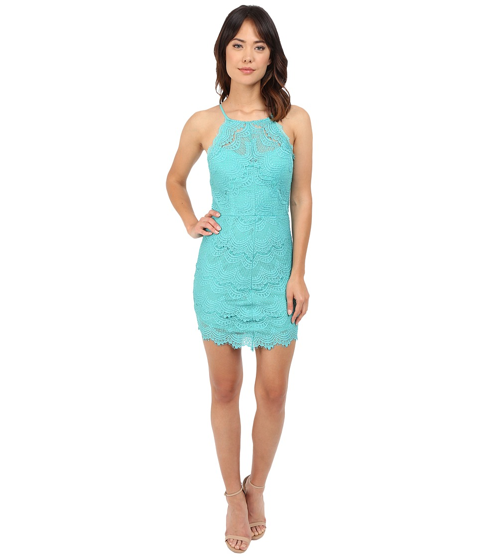 Brigitte Bailey - Monica Lace Racerback Dress (Blue) Women's Dress