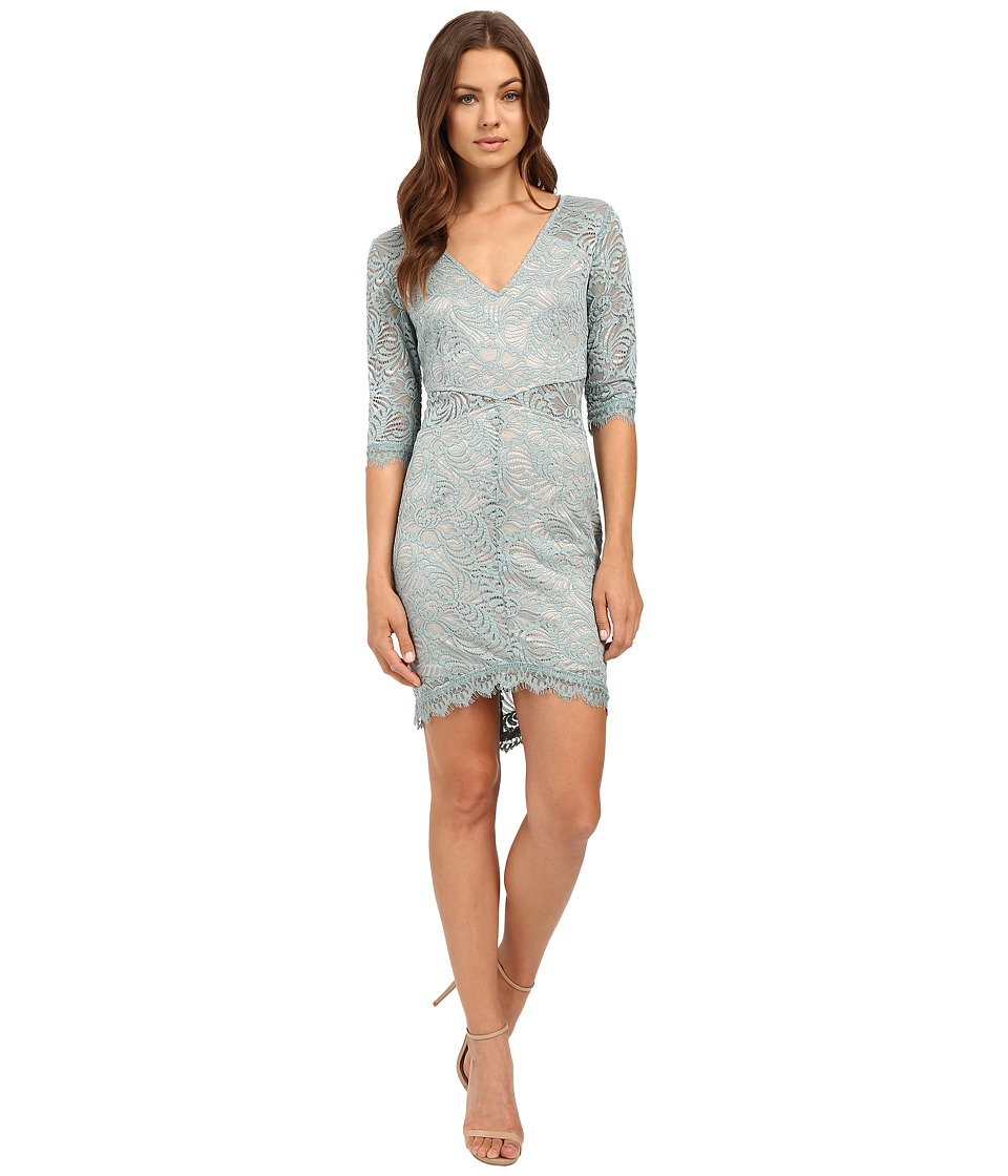 Brigitte Bailey - Rashida Lace Bodycon Dress (Grey) Women's Dress