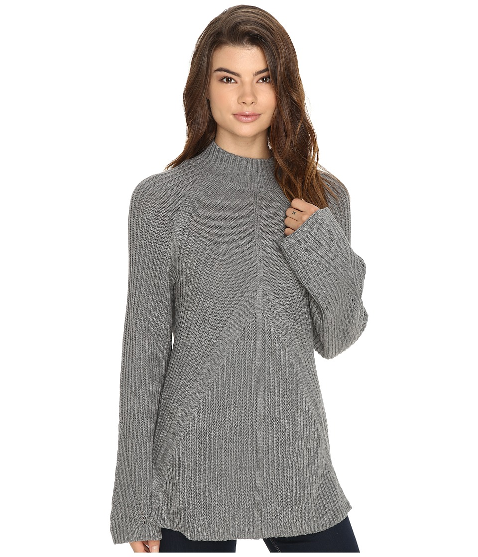 Brigitte Bailey - Bell Sleeve Turtleneck (Heather Grey) Women's Clothing