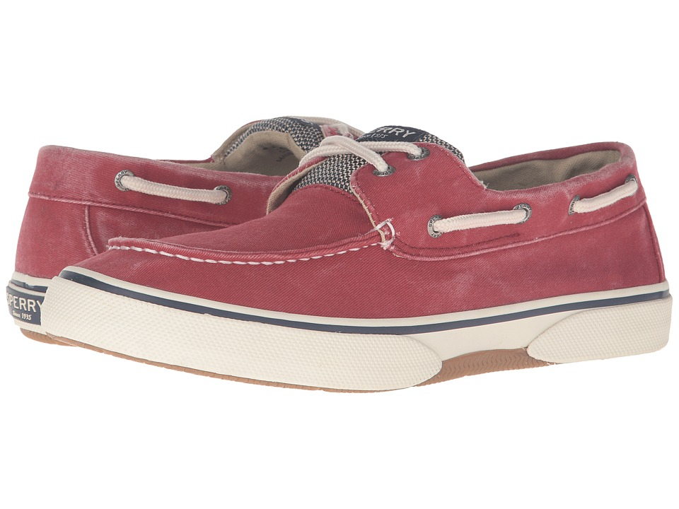 Sperry - Halyard 2-Eye (Red 1) Men's Lace Up Moc Toe Shoes