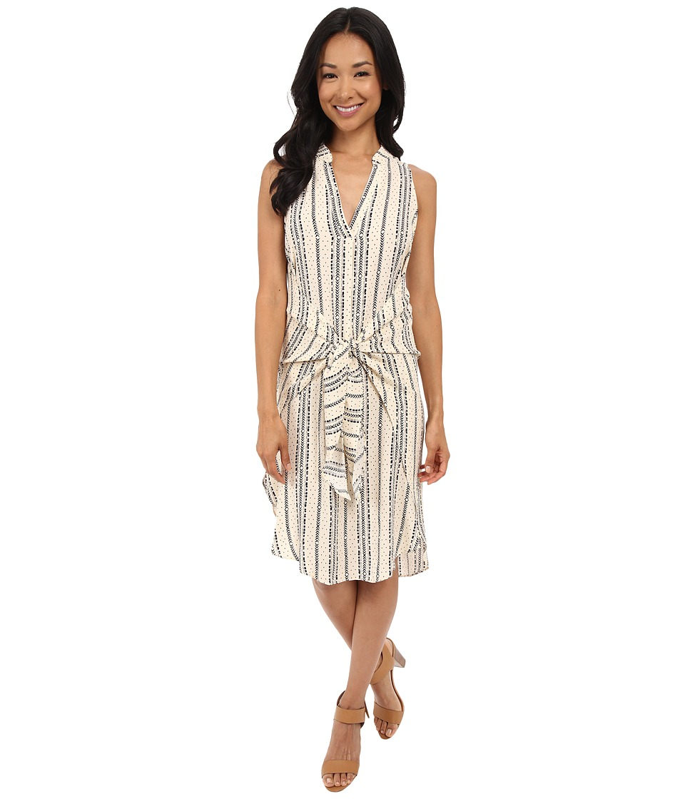 Brigitte Bailey - Ema Print Dress (Cream/Black) Women's Dress