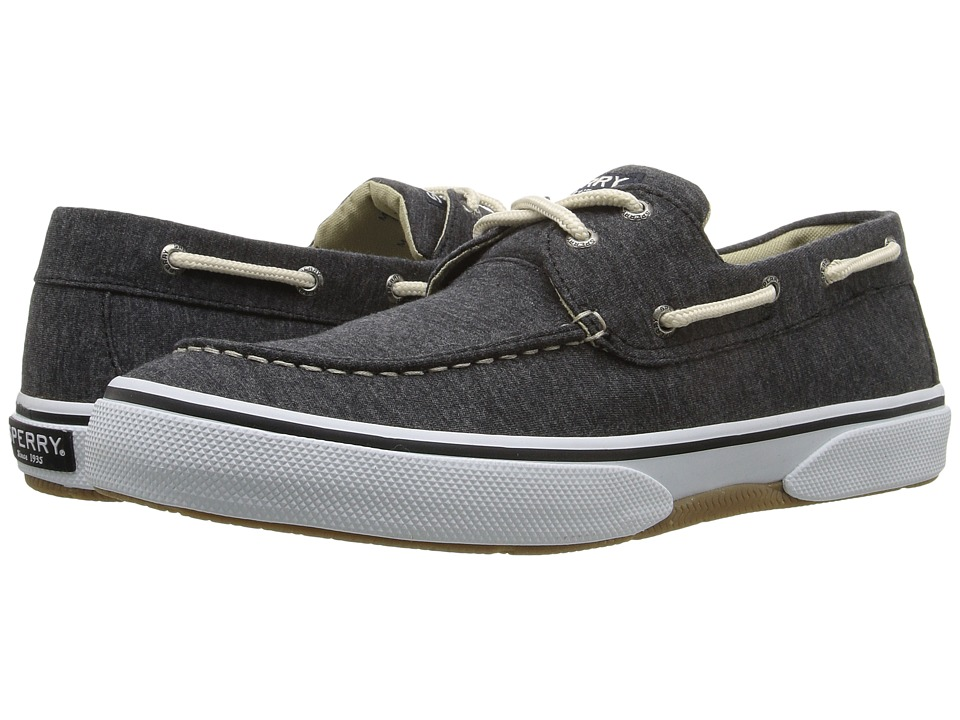 Sperry Top-Sider Halyard 2-Eye Jersey (Black/Burgundy) Men