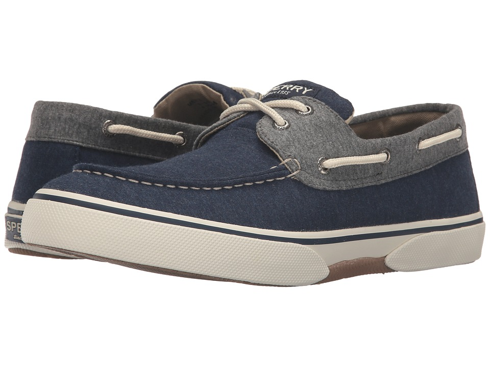 Sperry Top-Sider Halyard 2-Eye Jersey (Navy/Grey) Men
